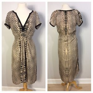 Cynthia Vincent Snake Print Dress Size M
